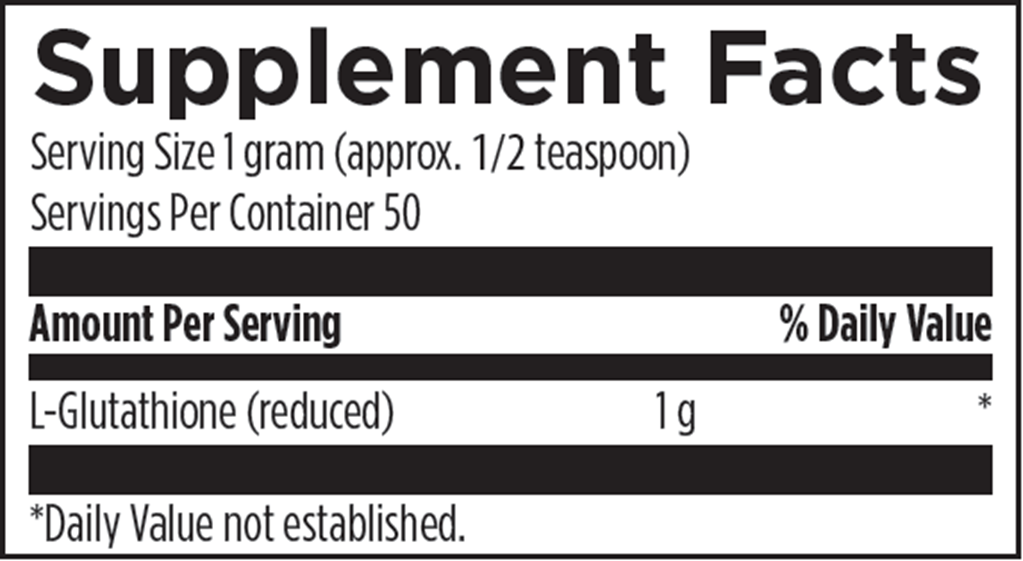 L-Glutathione Power - 50 grams