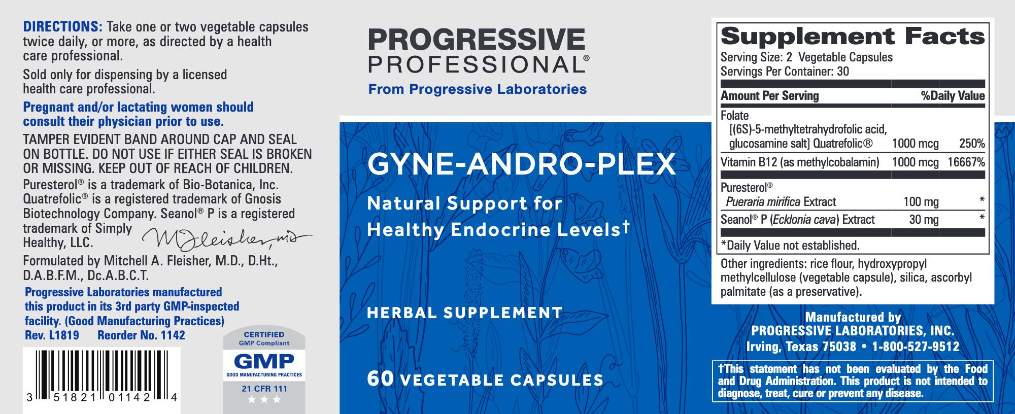 Gyne Andro Plex 60 veg caps