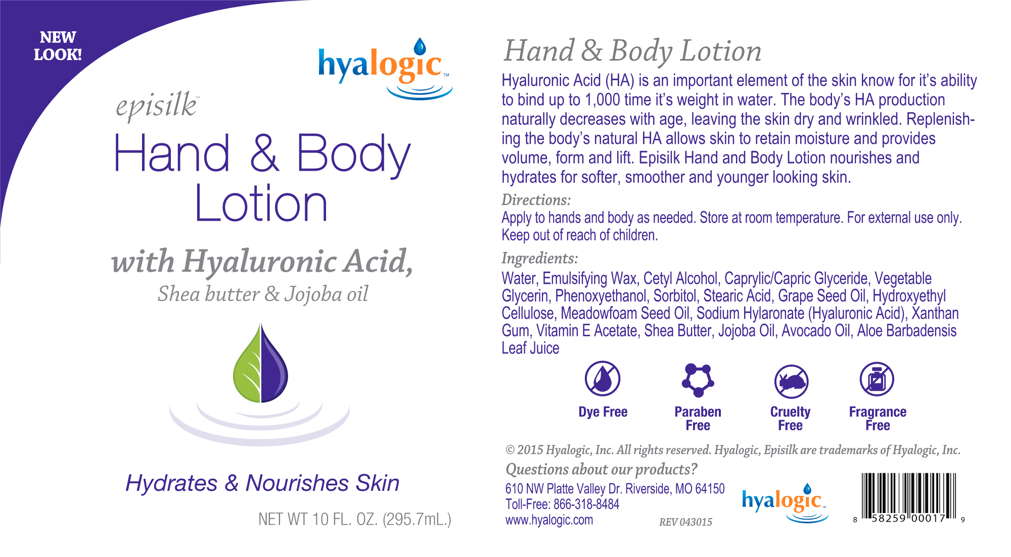 Hyalogic Hand and Body Lotion with HA