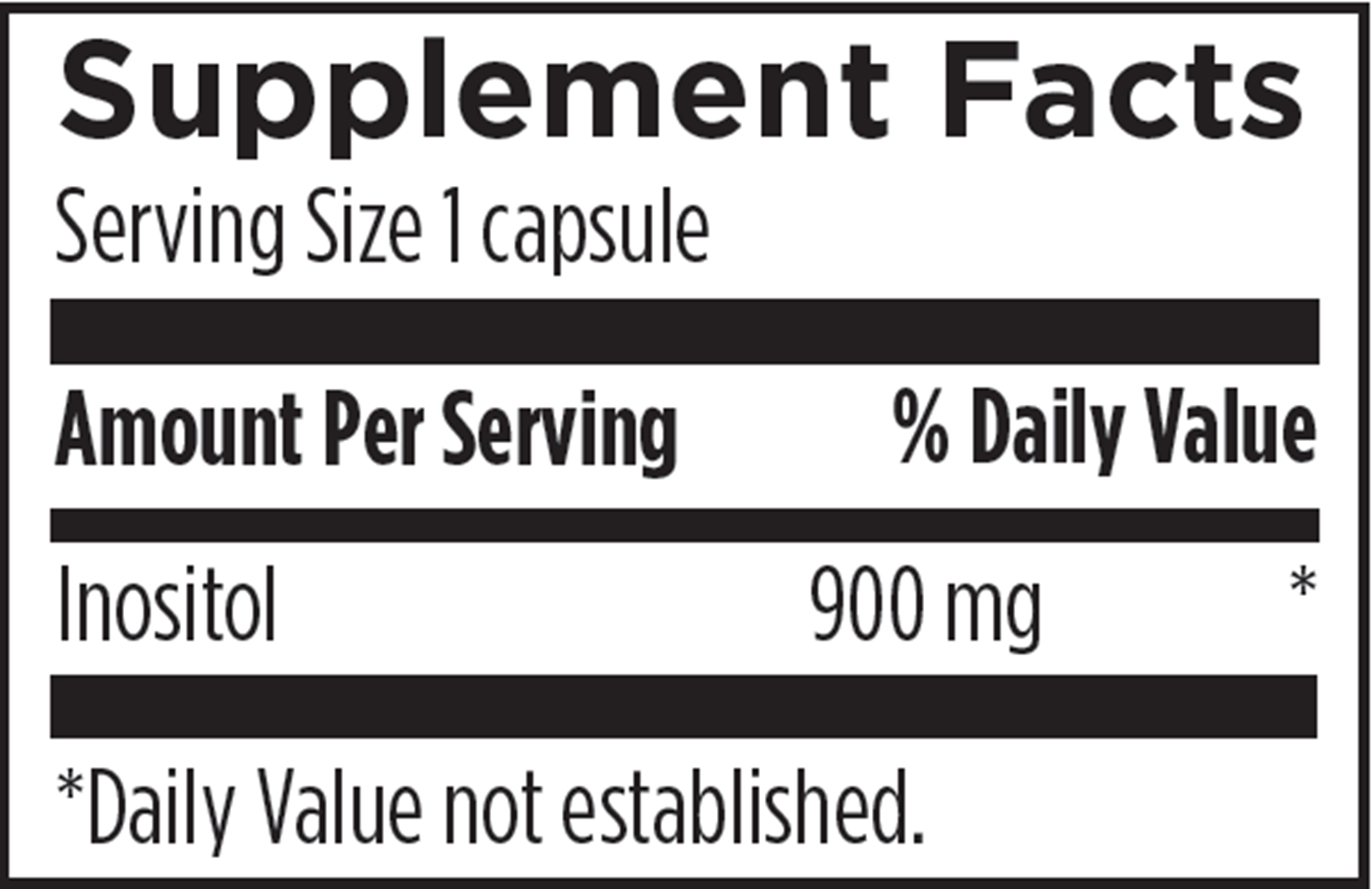 Inositol 120 vegcaps