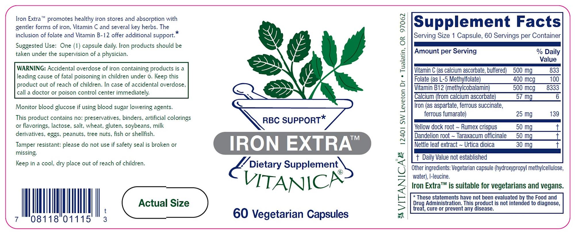 Iron Extra - 60 vegcaps