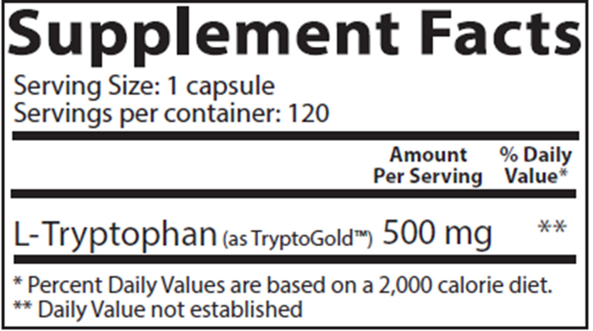 Aminos L-Tryptophan 120 veg caps
