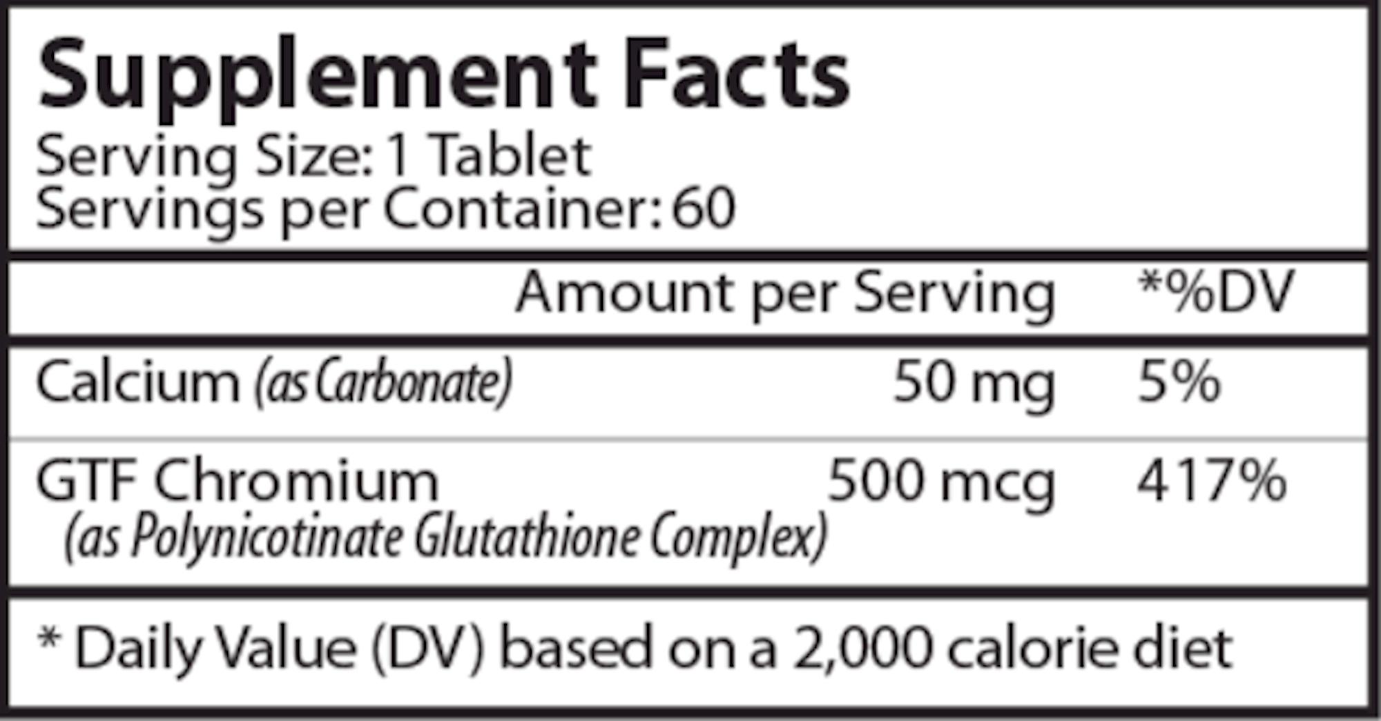GTF Chromacin 60 tab