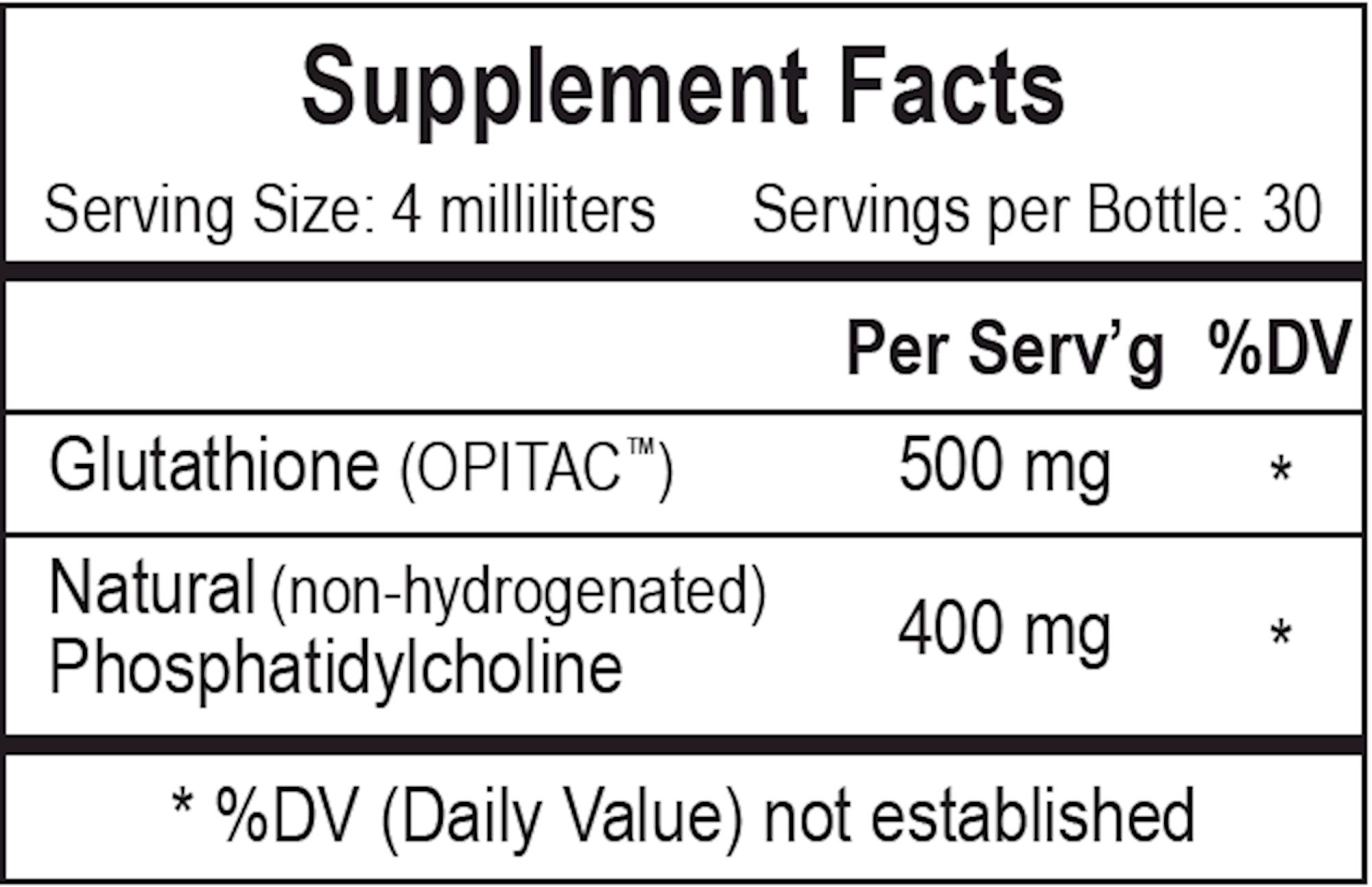 Liposomal Glutathione 4 oz