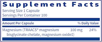 Magnesium Glycinate 100 mg  100 vegcaps
