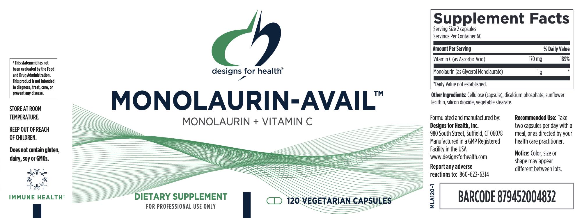 Monolaurin-Avail  120 vegcaps