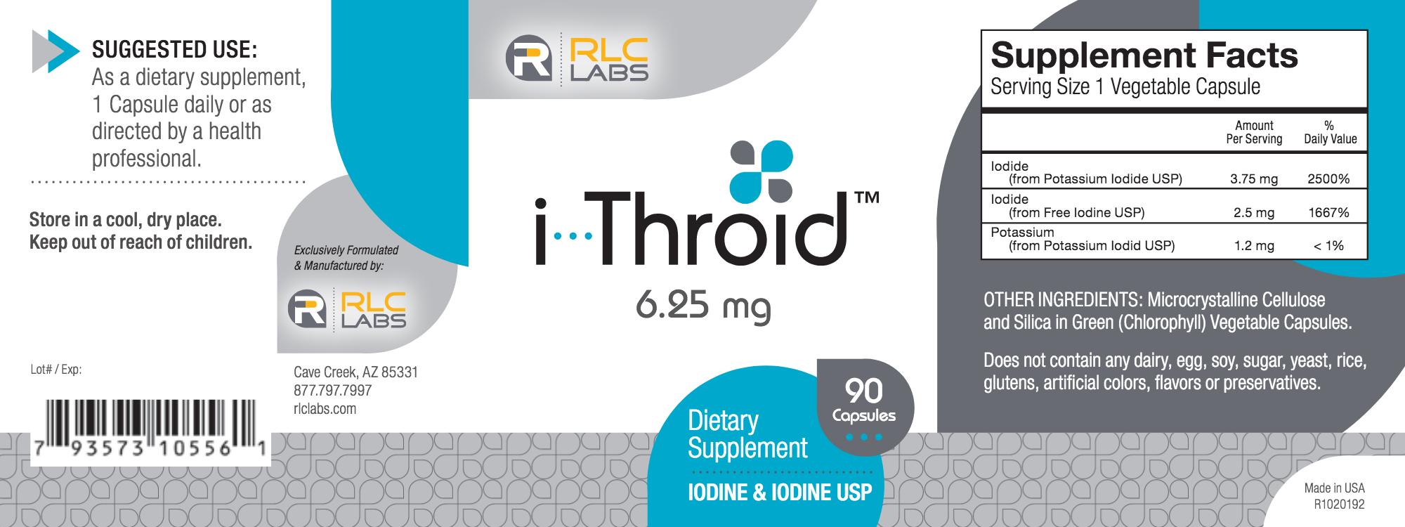 i Throid 6.25 mg 90 vegcaps