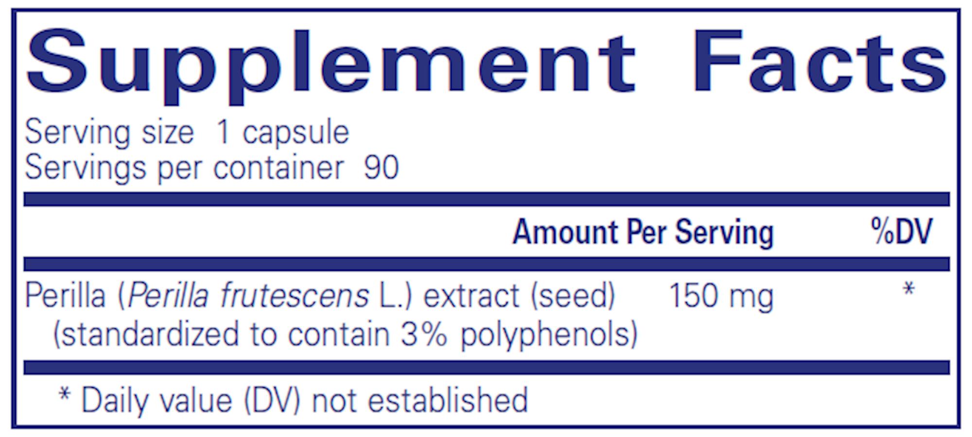 Perilla Extract 90 vegcaps