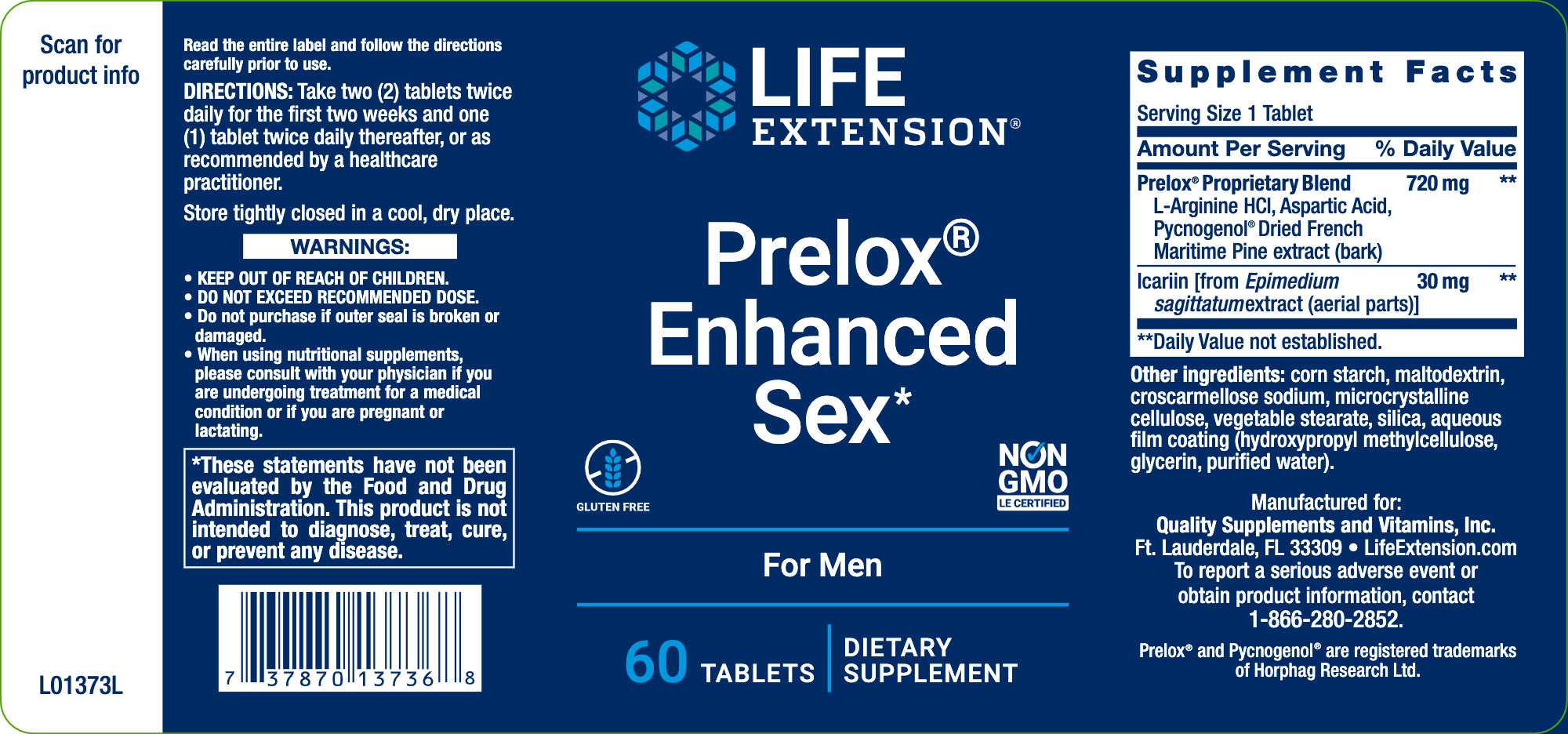 Prelox Enhanced Sex for Men 60 tabs