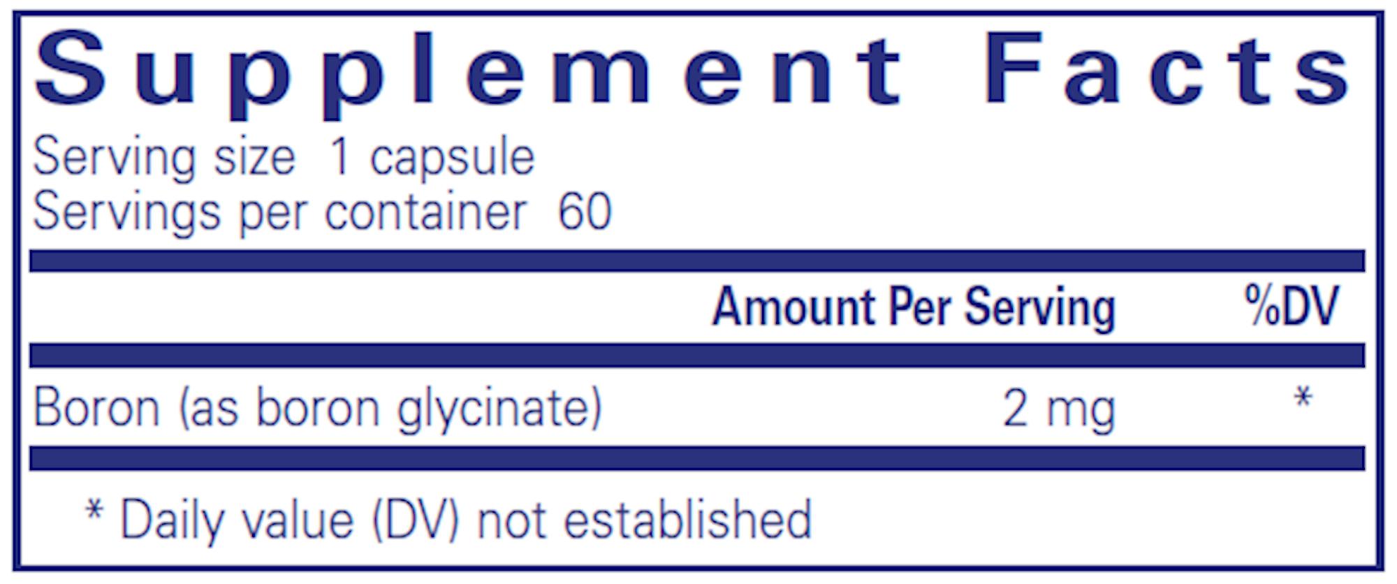 Boron 2 mg 60 vegcaps