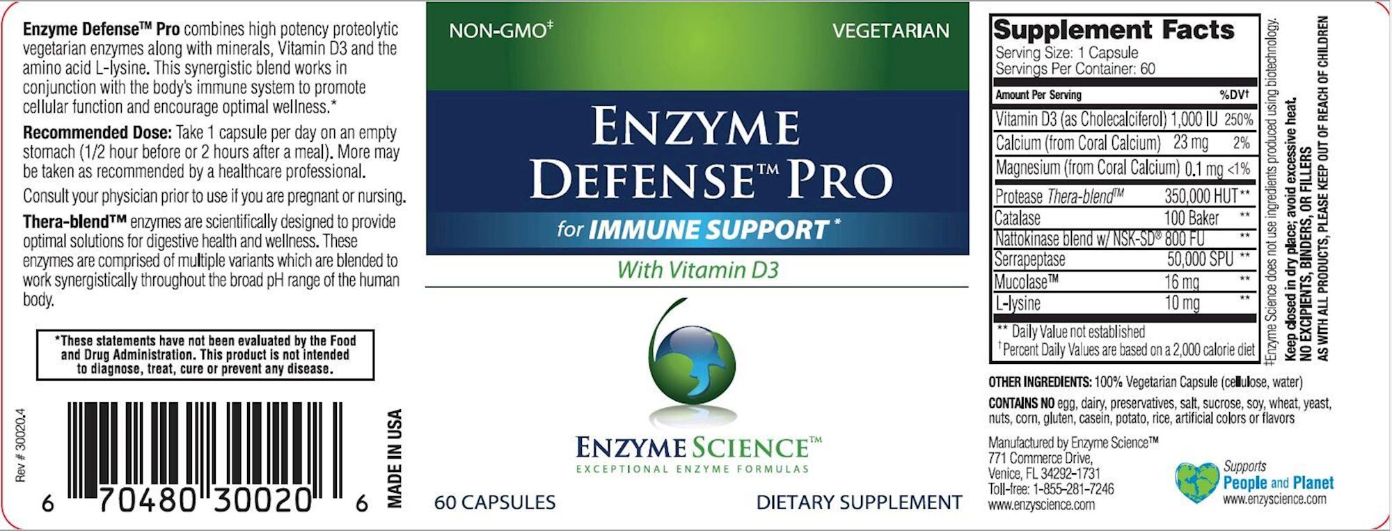 Enzyme Defense Pro 60 vegcap