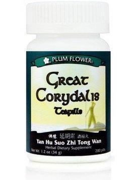 Plum Flower Brand Great Corydalis Teapills - 200 Teapills