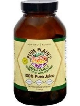Pure Planet HeirloomWheatgrass  (Kamut) 240 Veggie caps 33 mg