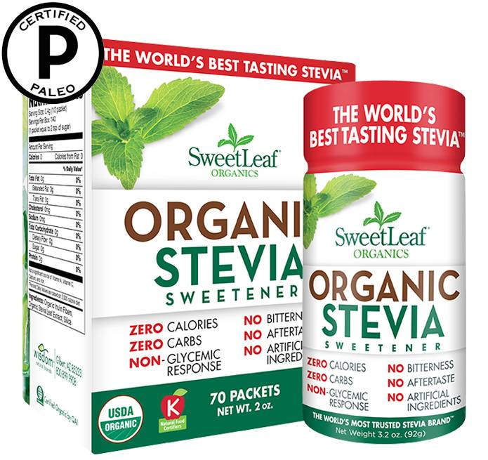 Stevia Organic Sweetleaf shaker 92 gr