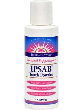Ipsab Tooth Powder, mint 4 oz