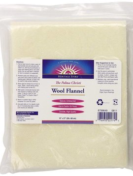 Wool Flannel  castor oil pack -- 12 x 27