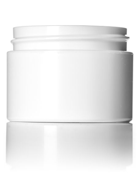 White Plastic Jars - 1oz.