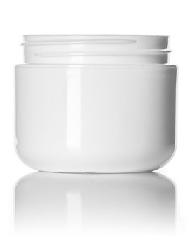 White Plastic Jars - 2oz.