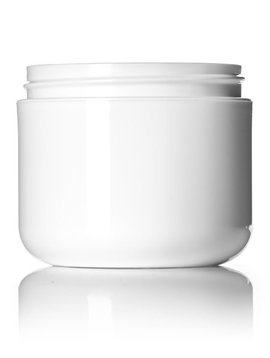 White Plastic Jar - 4oz