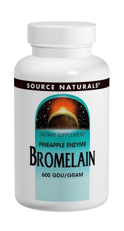 Source Naturals - Bromelain 2000 GDU 500mg - 60 veg caps