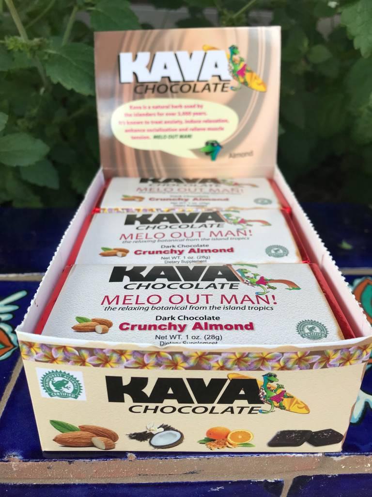 Kava Dark Chocolate Almond bar