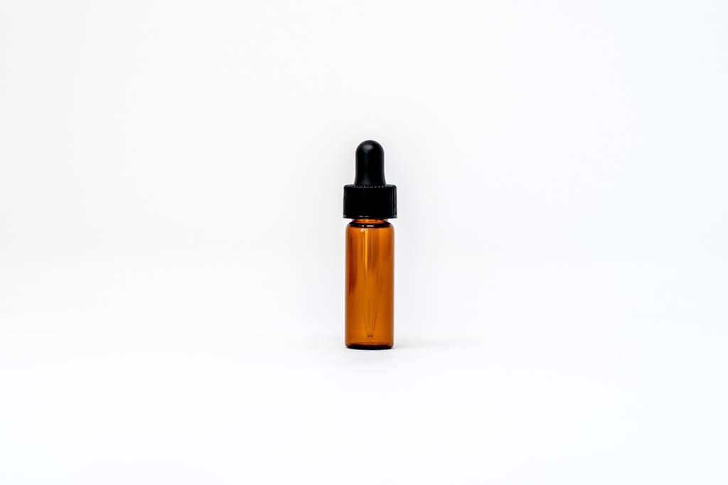 1/8 oz Amber Glass Bottles W/Dropper