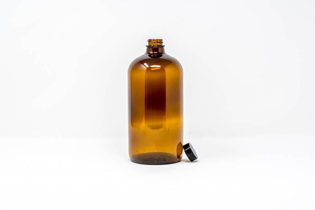 32 oz Amber Glass w/Flat Lid
