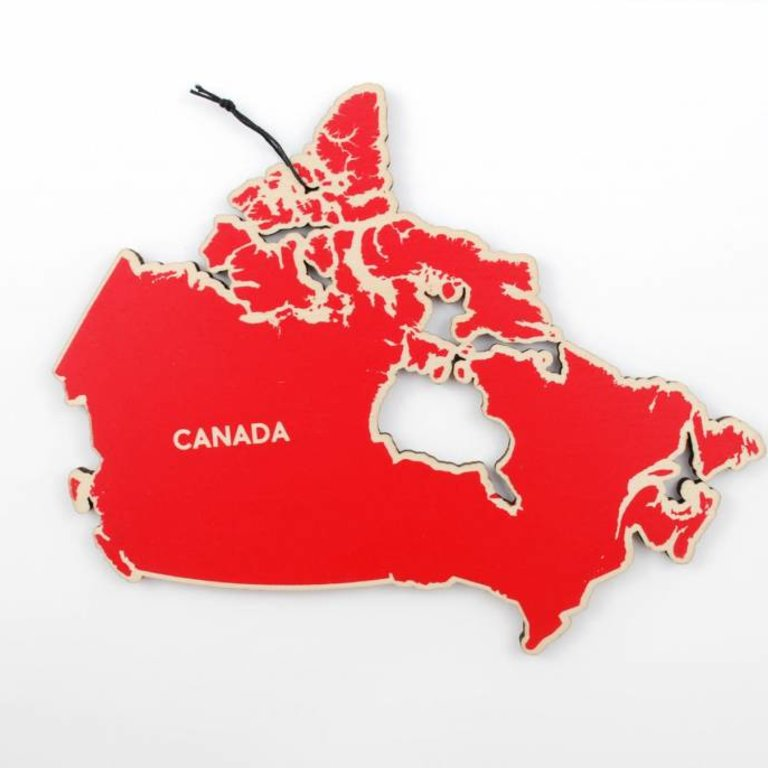 Map Of Canada Red.I Kinda Like It Here Canada Map Trivet Red Habitude Design Inc