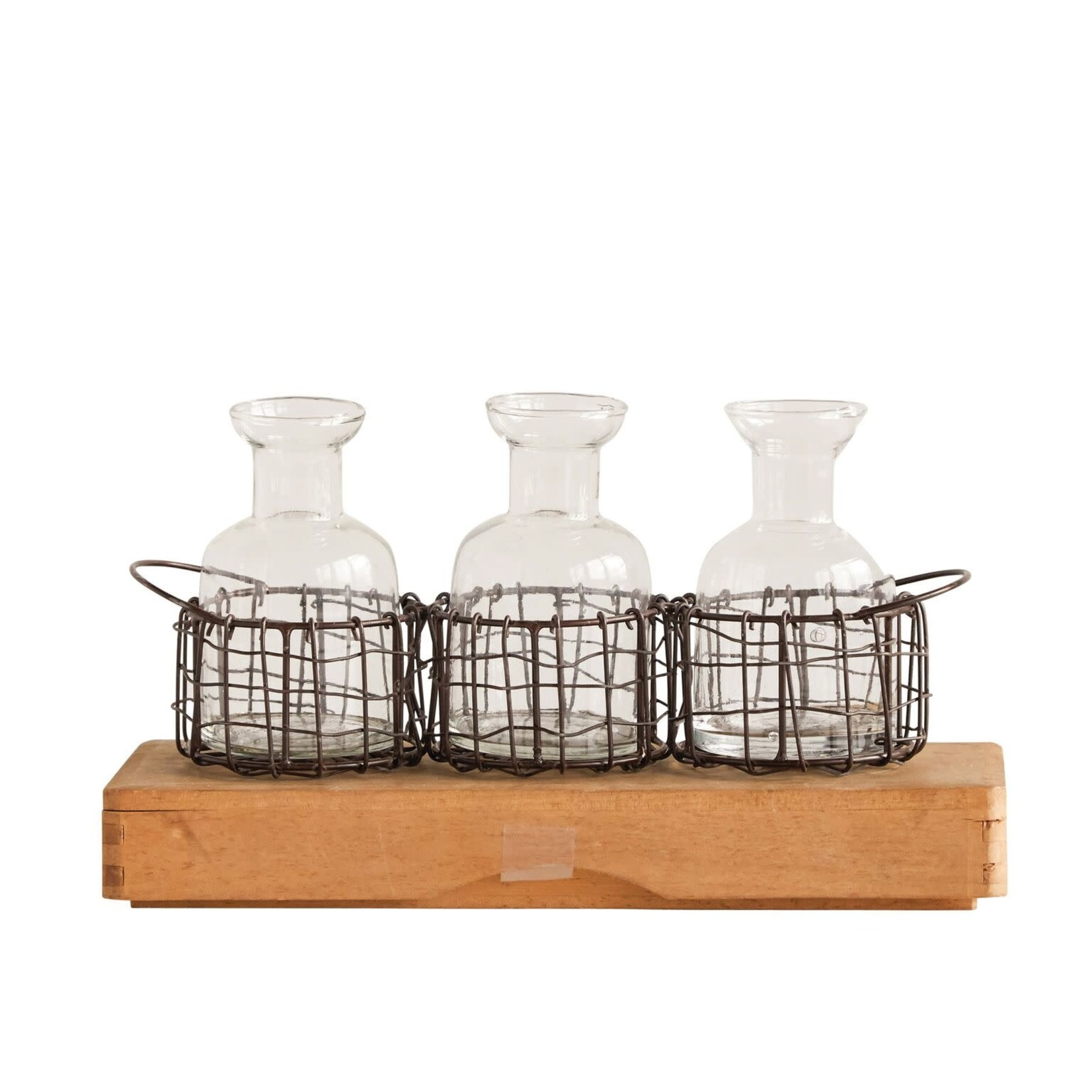 Creative Coop Vase PANIER TRIO