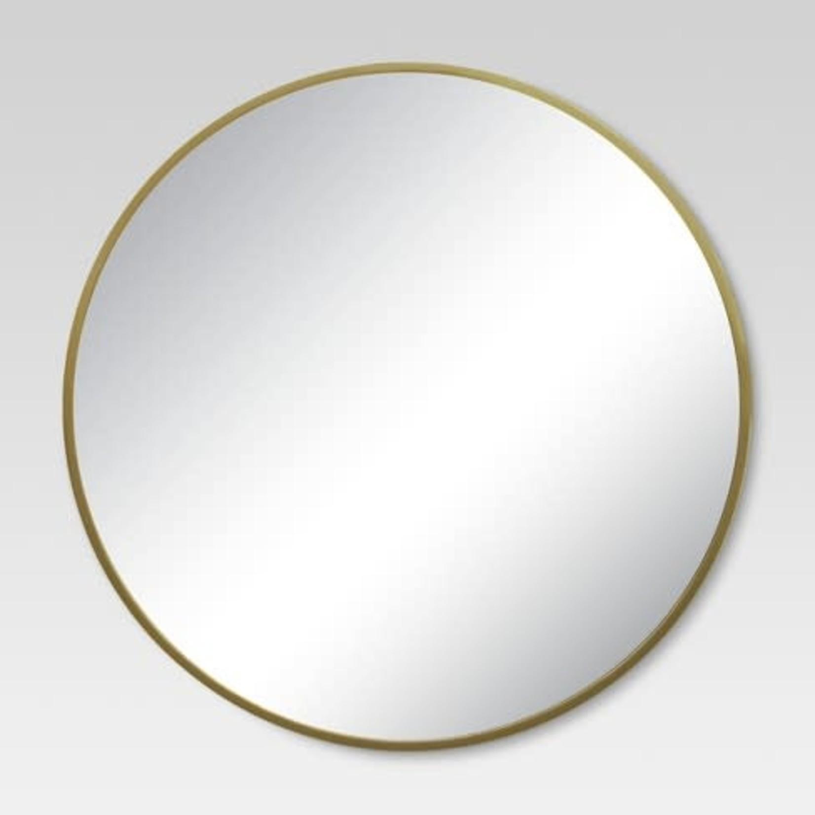 "Miroir  laiton doré 34"""