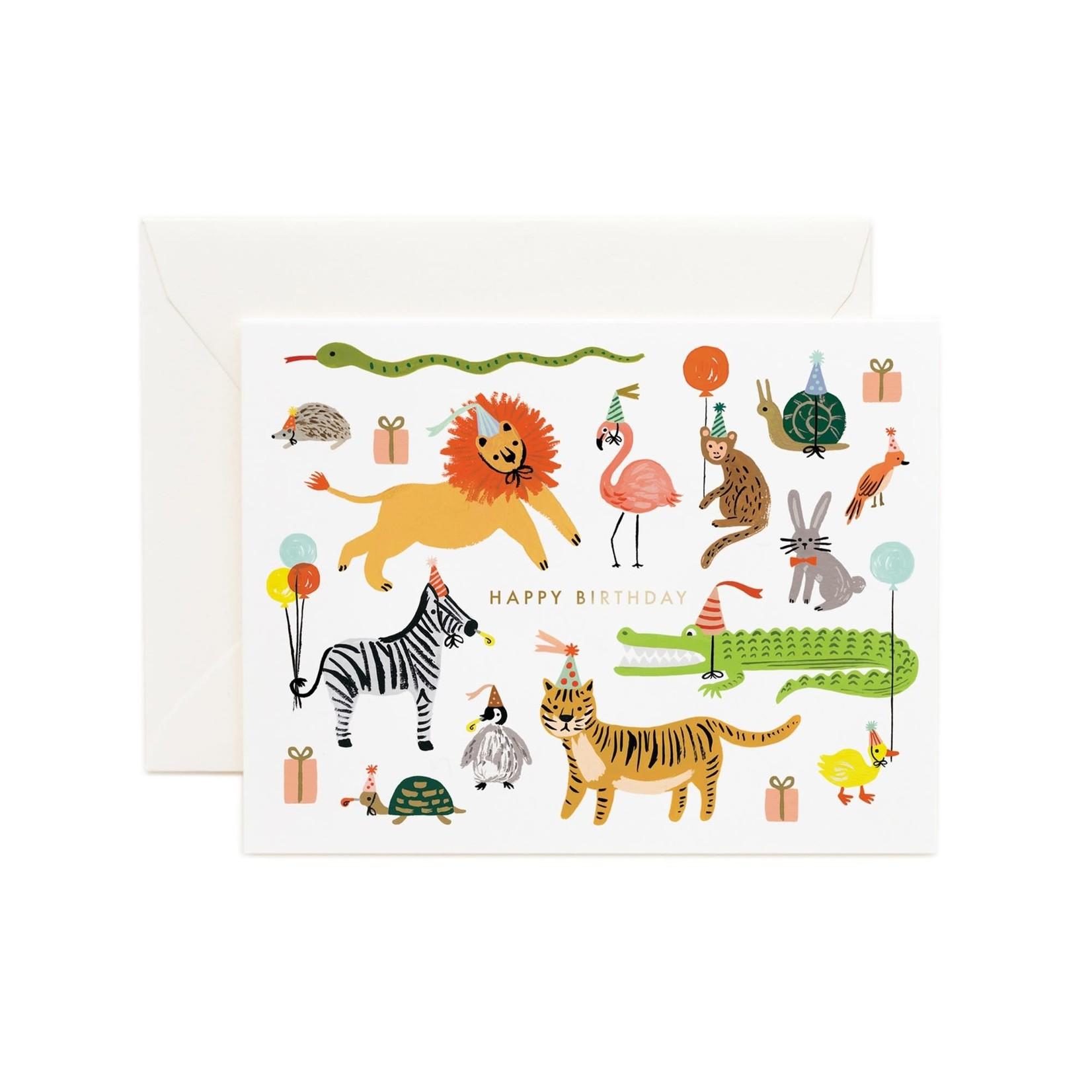 Rifle Paper Co. Carte fête animaux