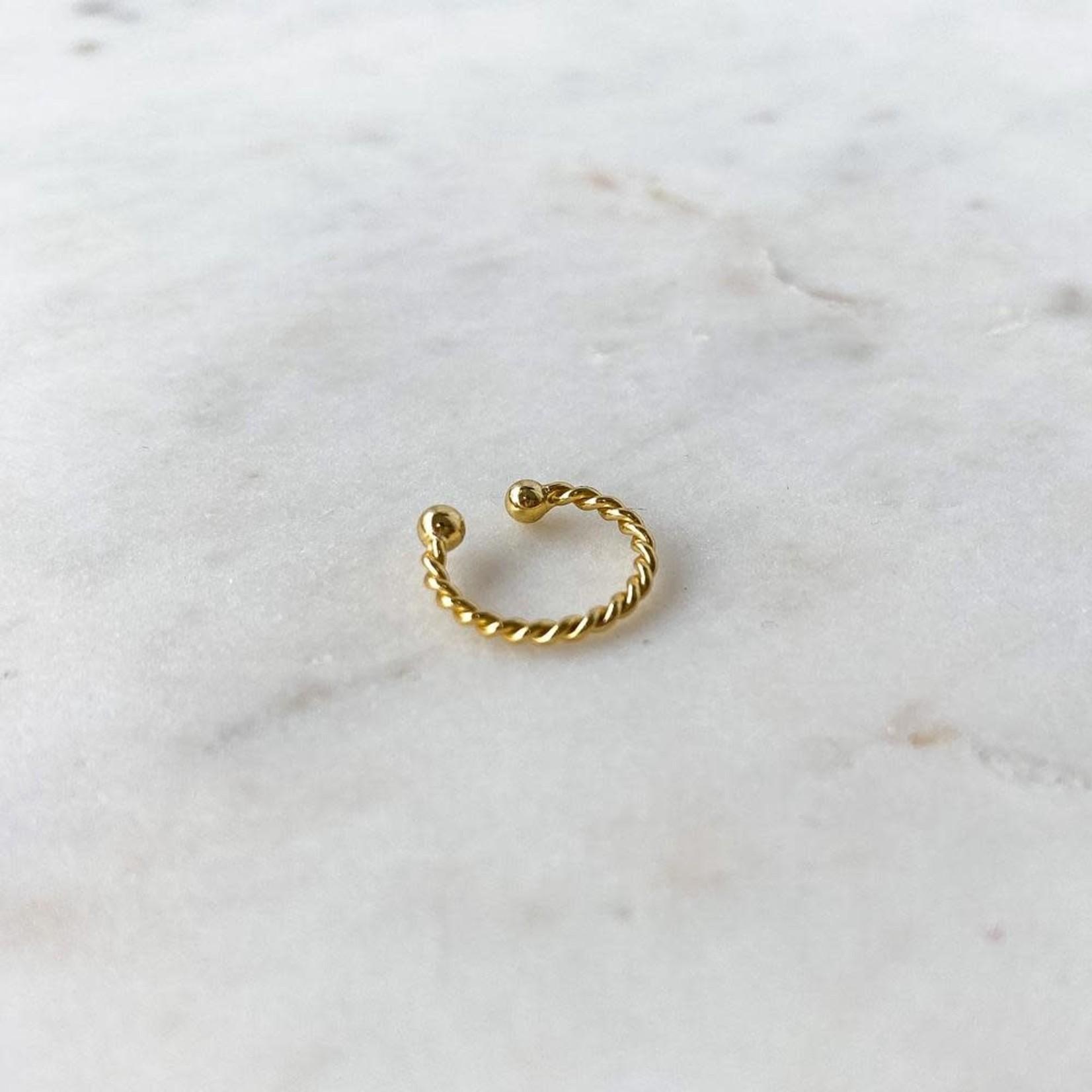 Horace Jewelry Horace fausse boucle d'oreille TORSADÉ OR