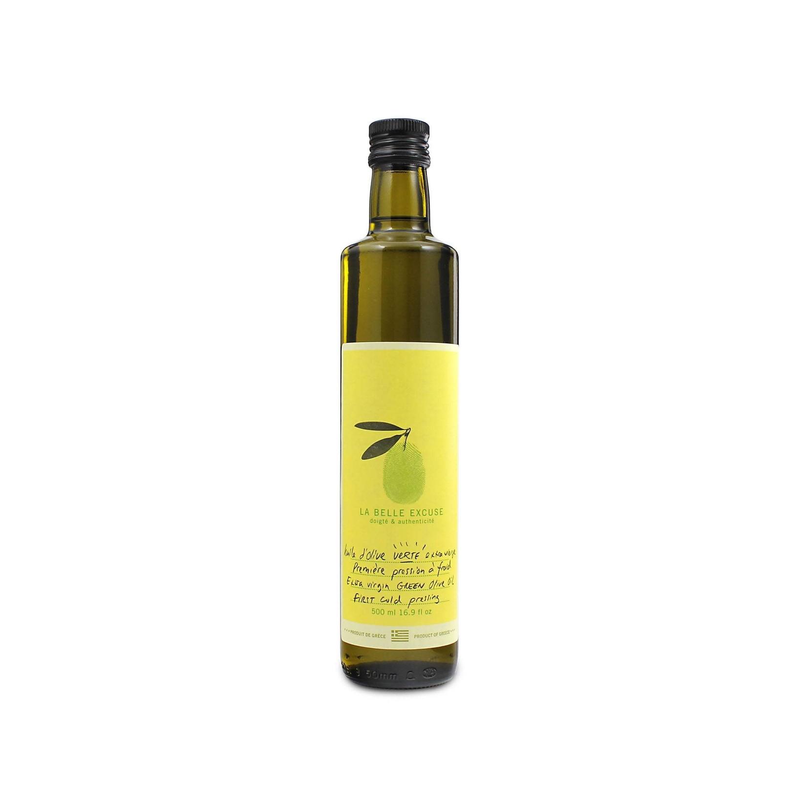 La belle excuse Huile olive extra vierge verte 500ml