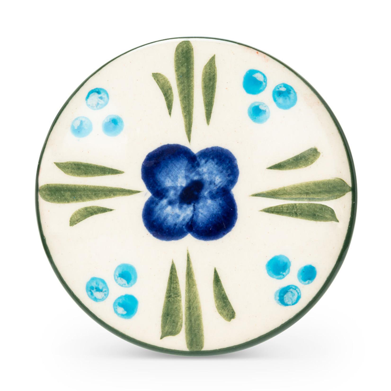 Abbott Poignée fleur bleue/verte