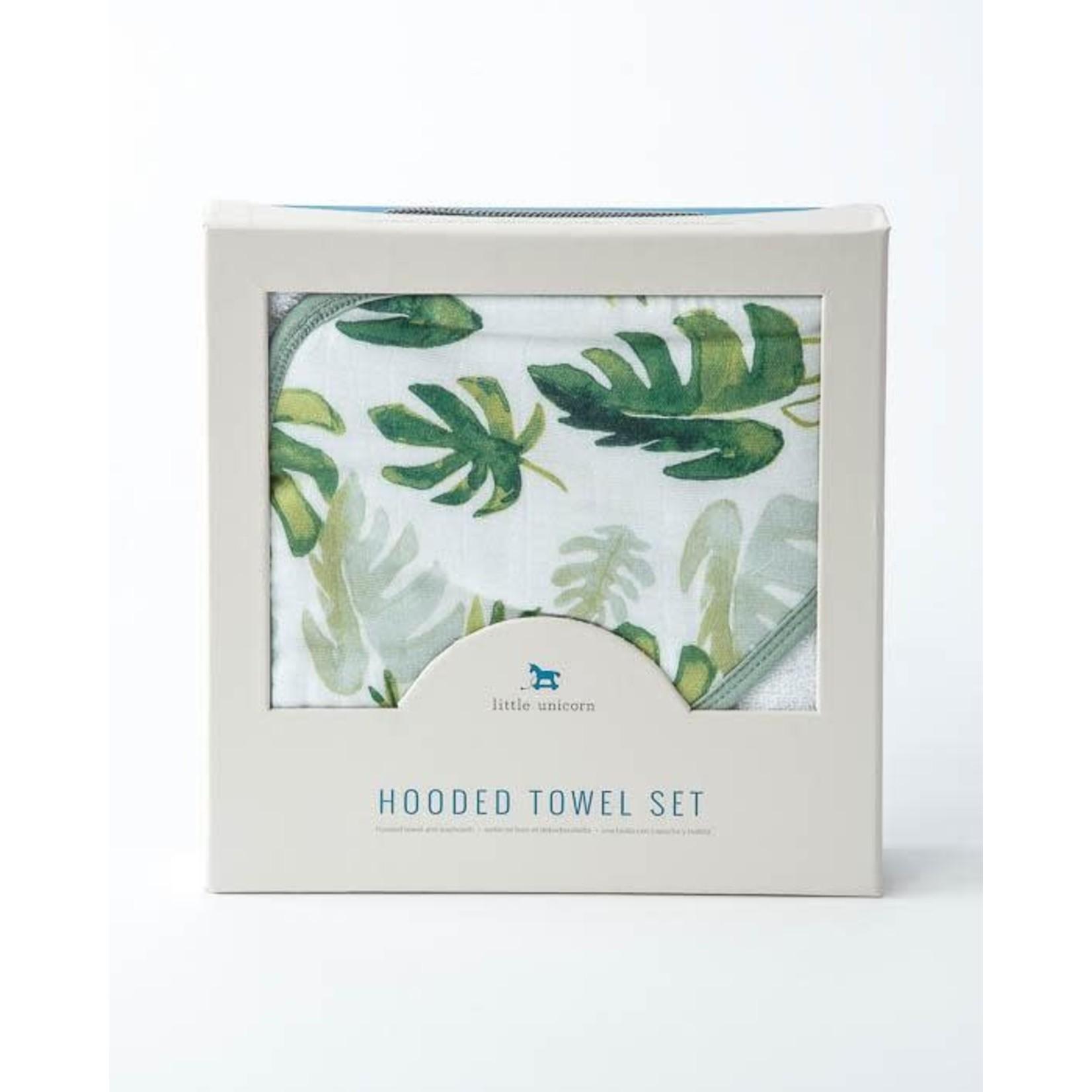 Little unicorn Ensemble de bain - feuilles tropicales