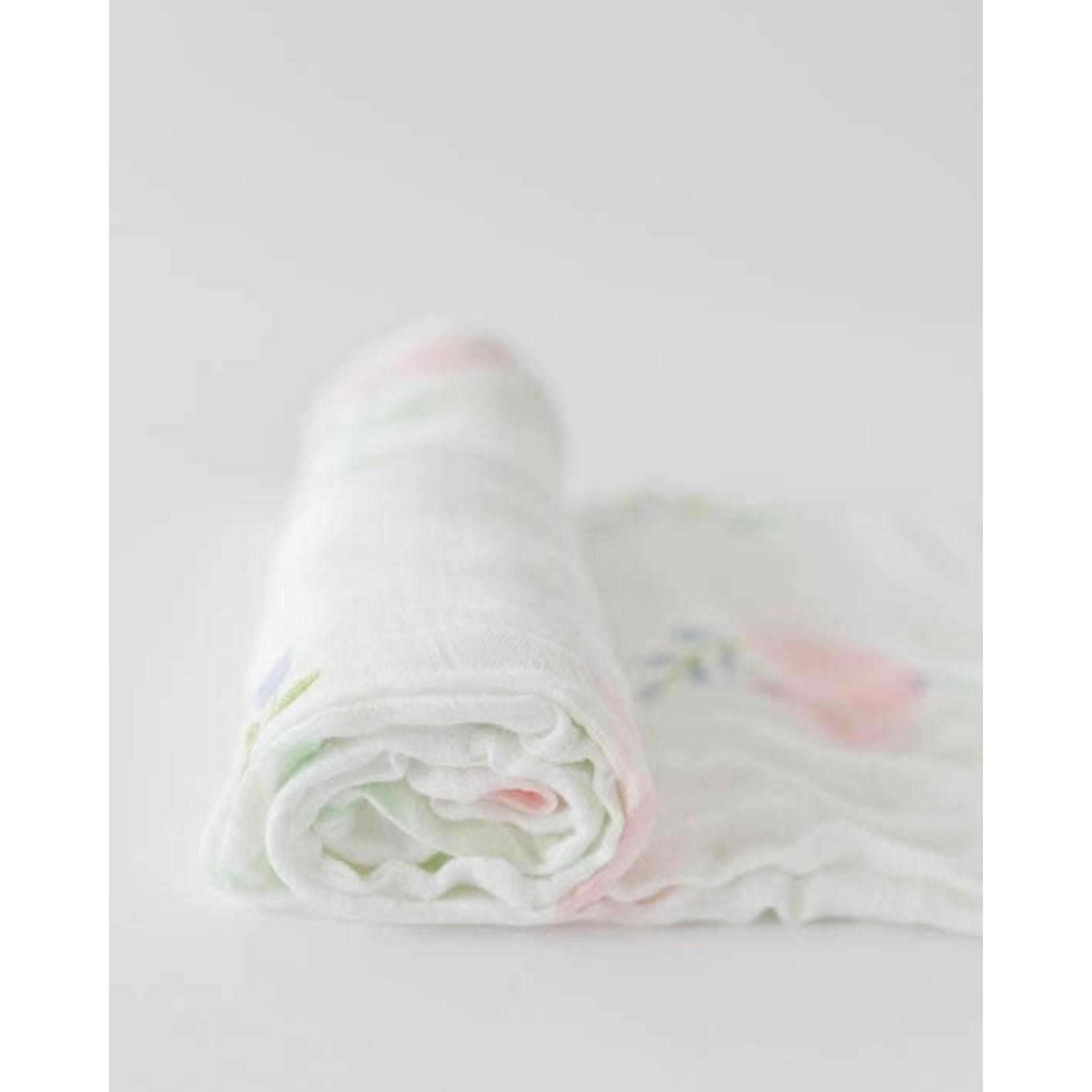 Little unicorn Mousseline - pivoine blush