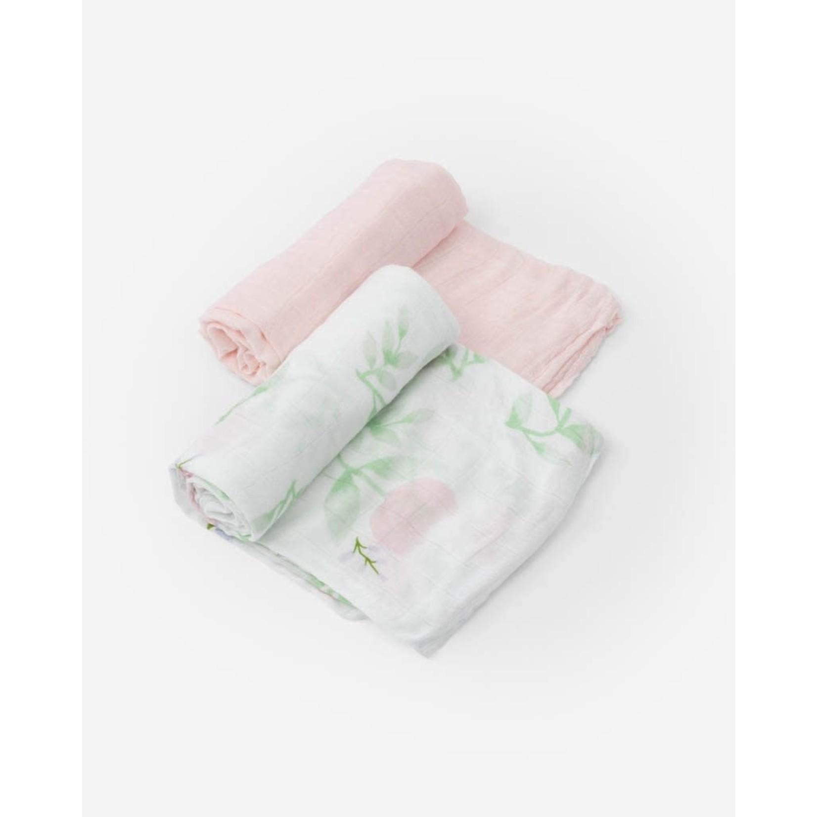 Little unicorn Ensemble mousselines - pivoine blush