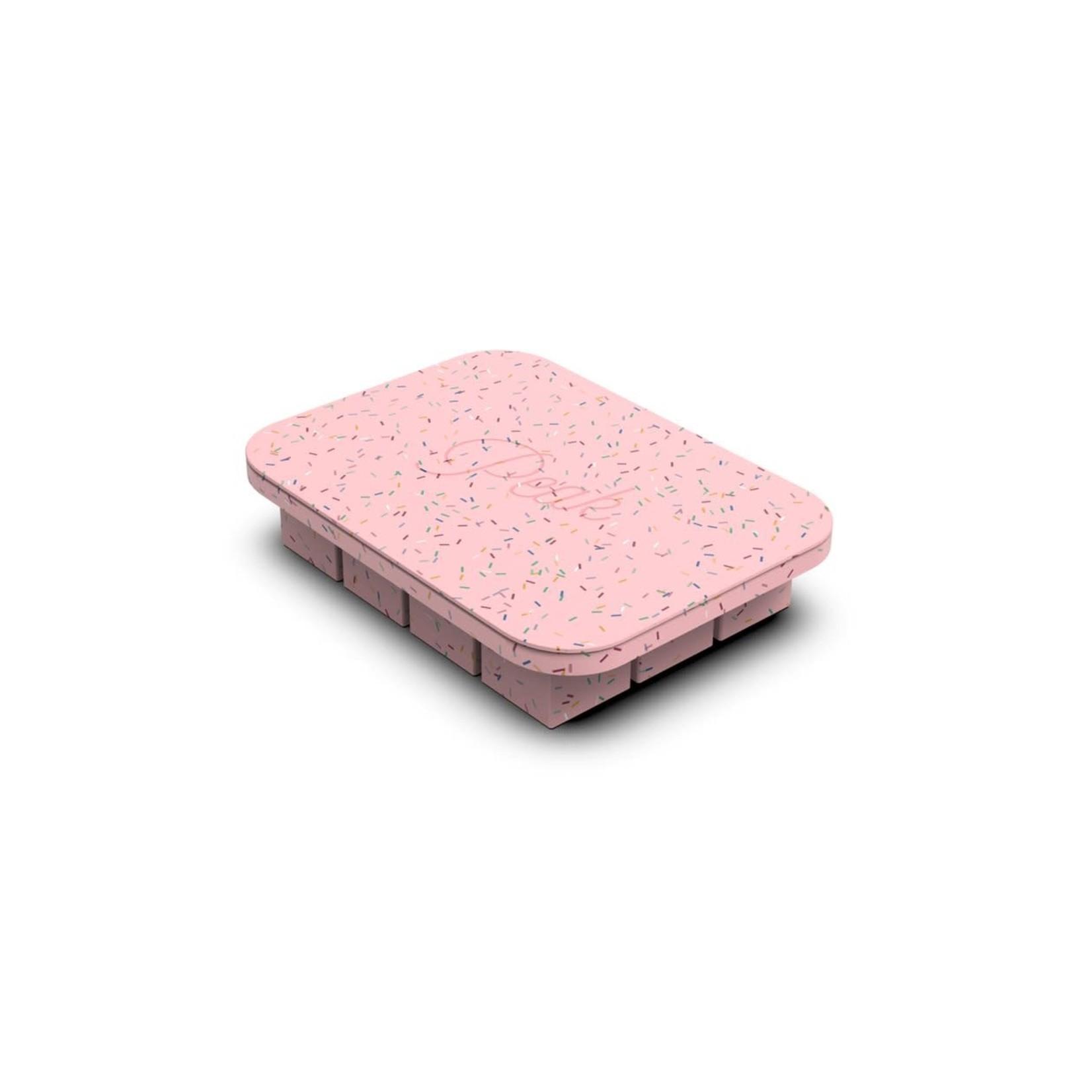 Porter Plateau à glaçons PORTER - confettis/rose
