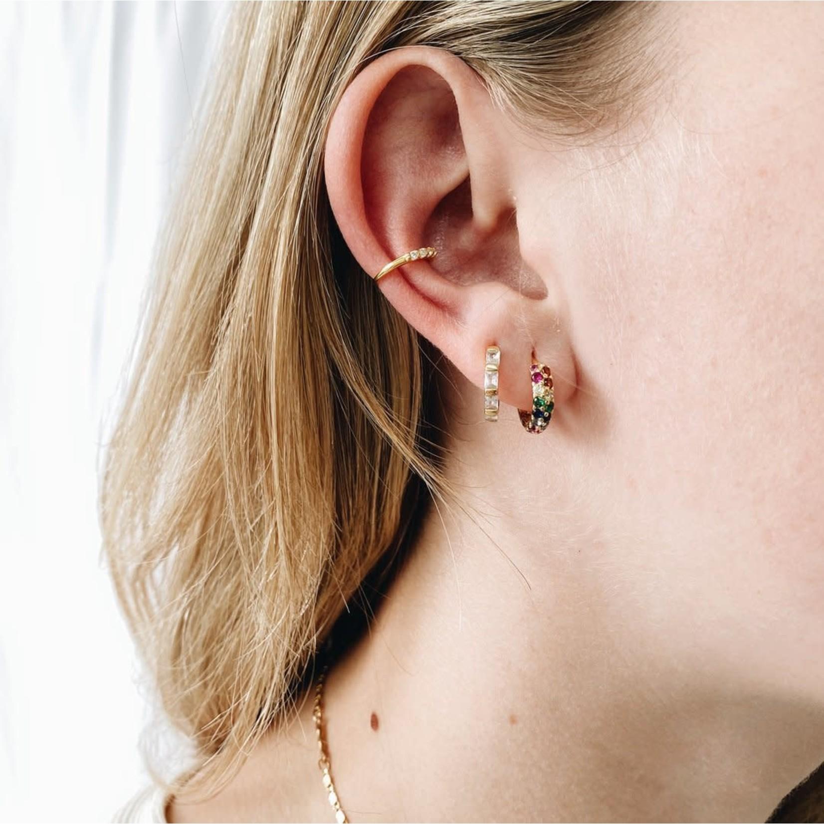 Horace Jewelry Horace fausse boucle d'oreille ZIRCON OR