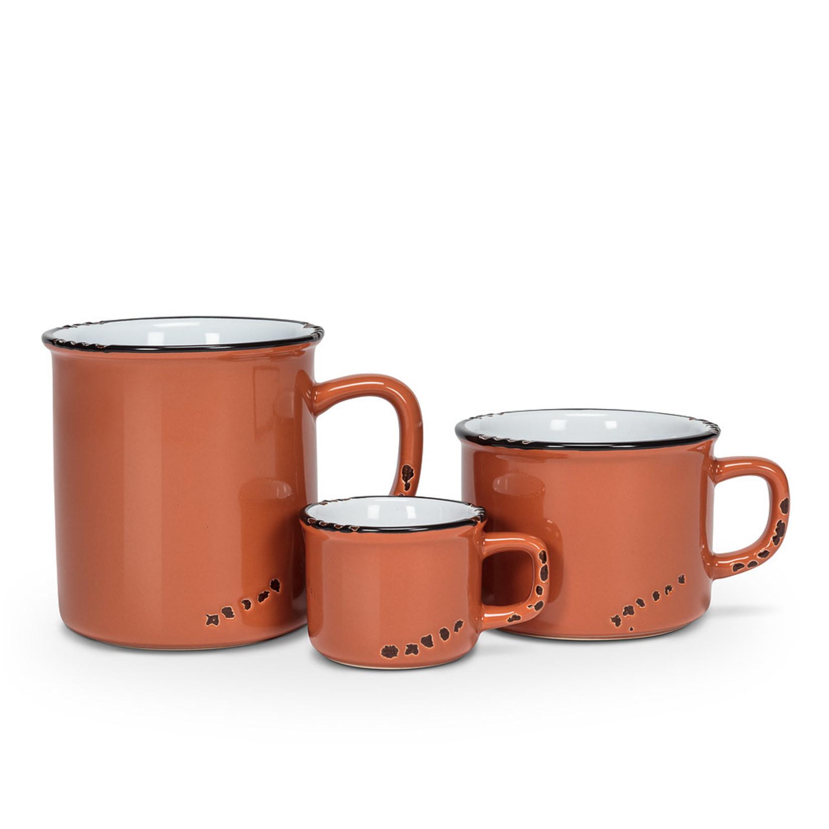 Abbott Tasse cappuccino émail - Terracotta