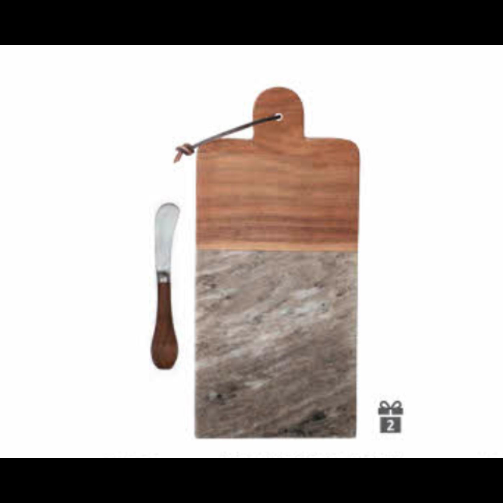 Bloomingville Planche marbre/acacia