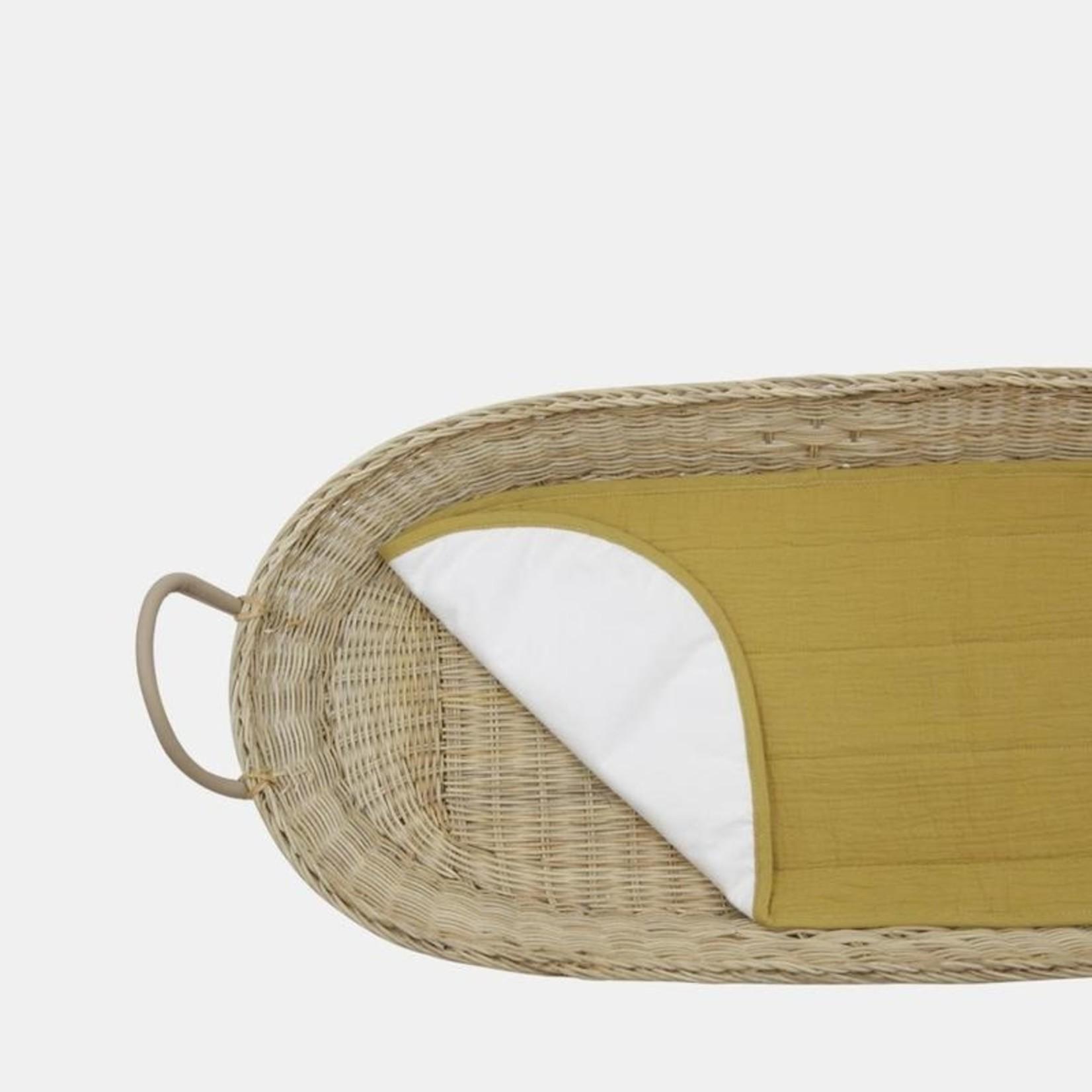 Olli Ella Tapis en coton pour panier à langer - moutarde