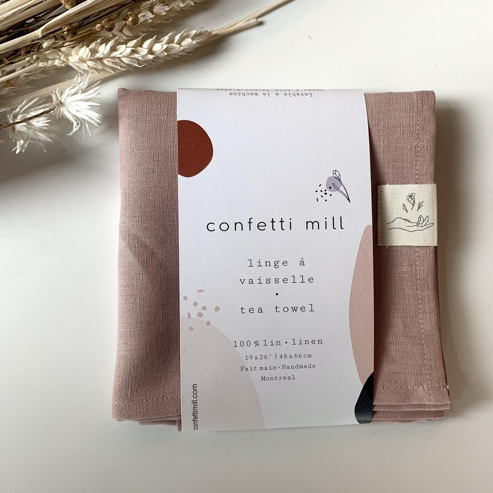 Confetti Mill Linge à vaisselle - vieux rose