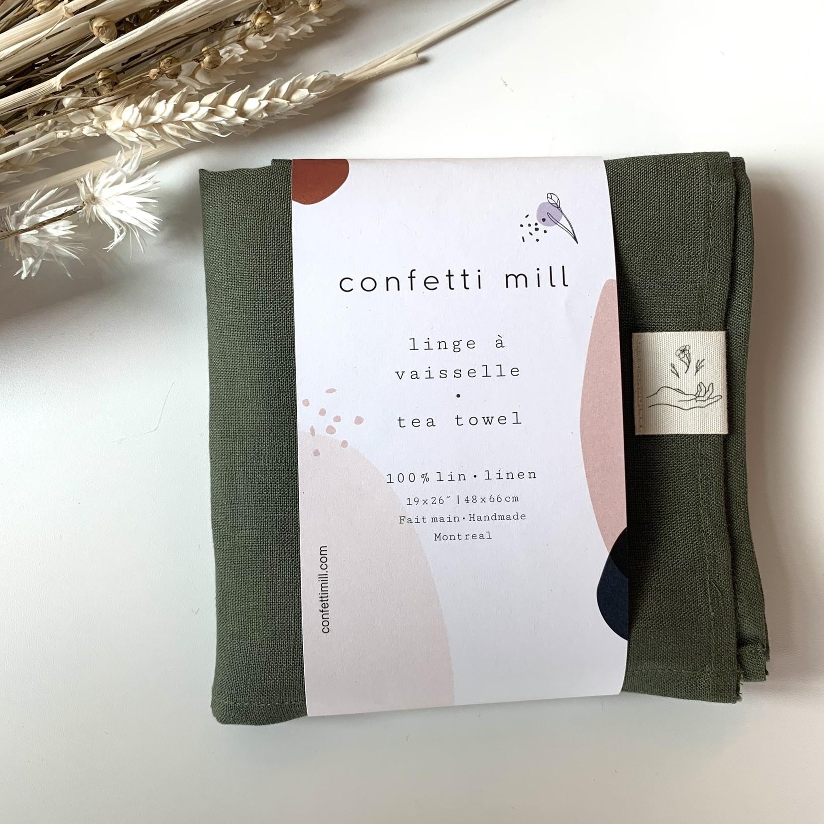 Confetti Mill Linge à vaisselle - vert forêt