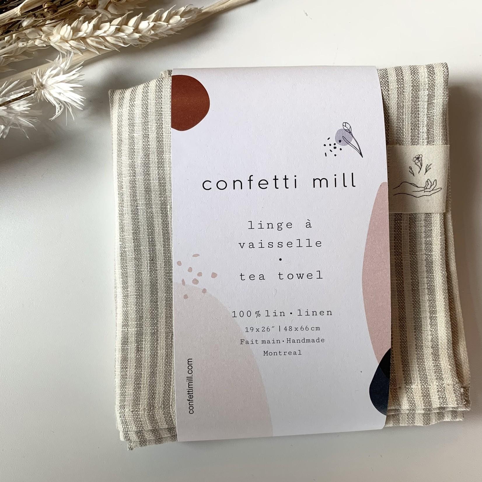 Confetti Mill Linge à vaisselle - rayée