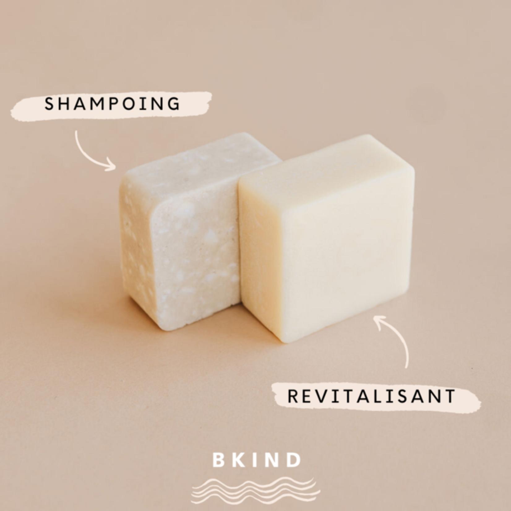 BKIND BKIND - Shampoing et revitalisant en barres et boîte de transport