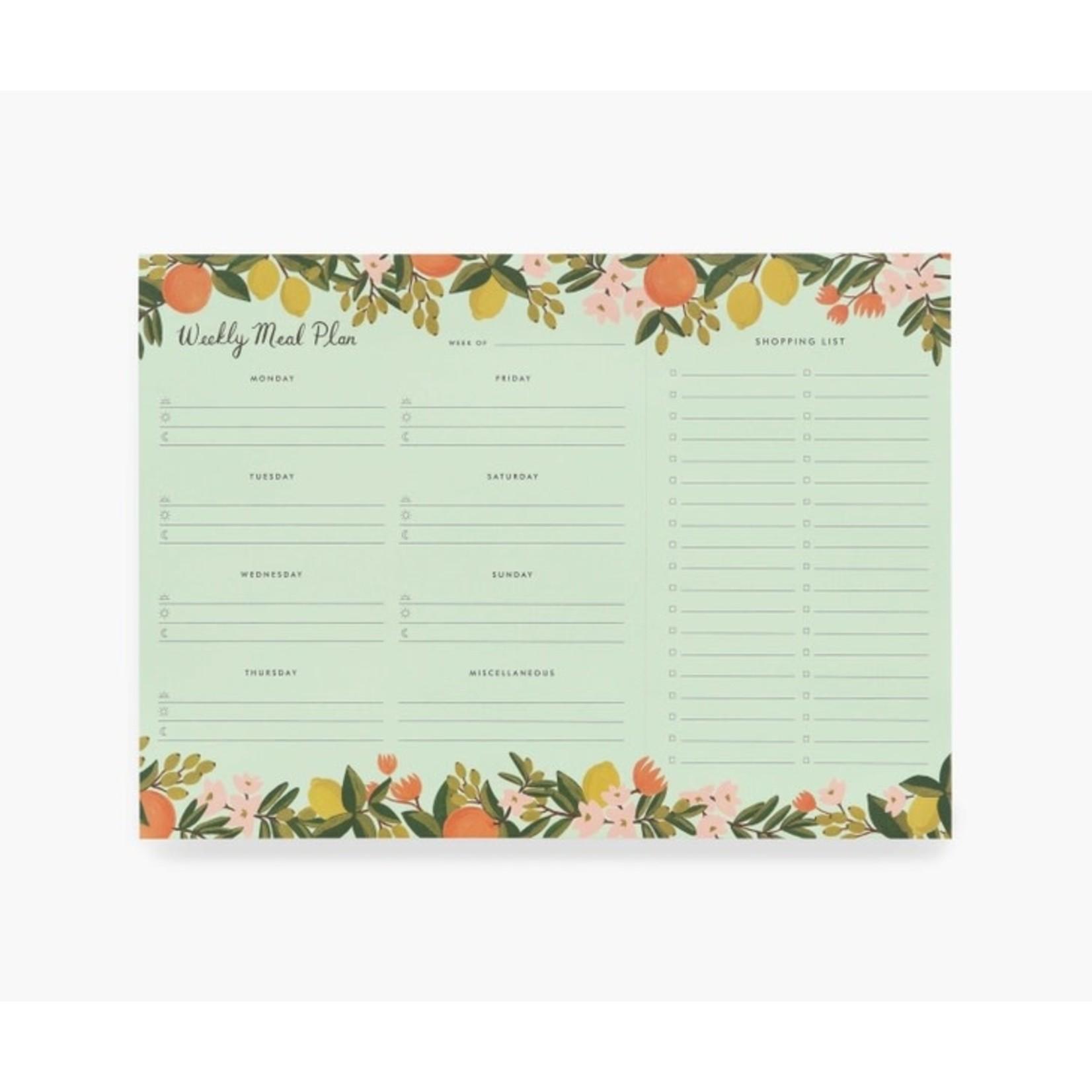 Rifle Paper Co. Planificateur repas - Citrus floral