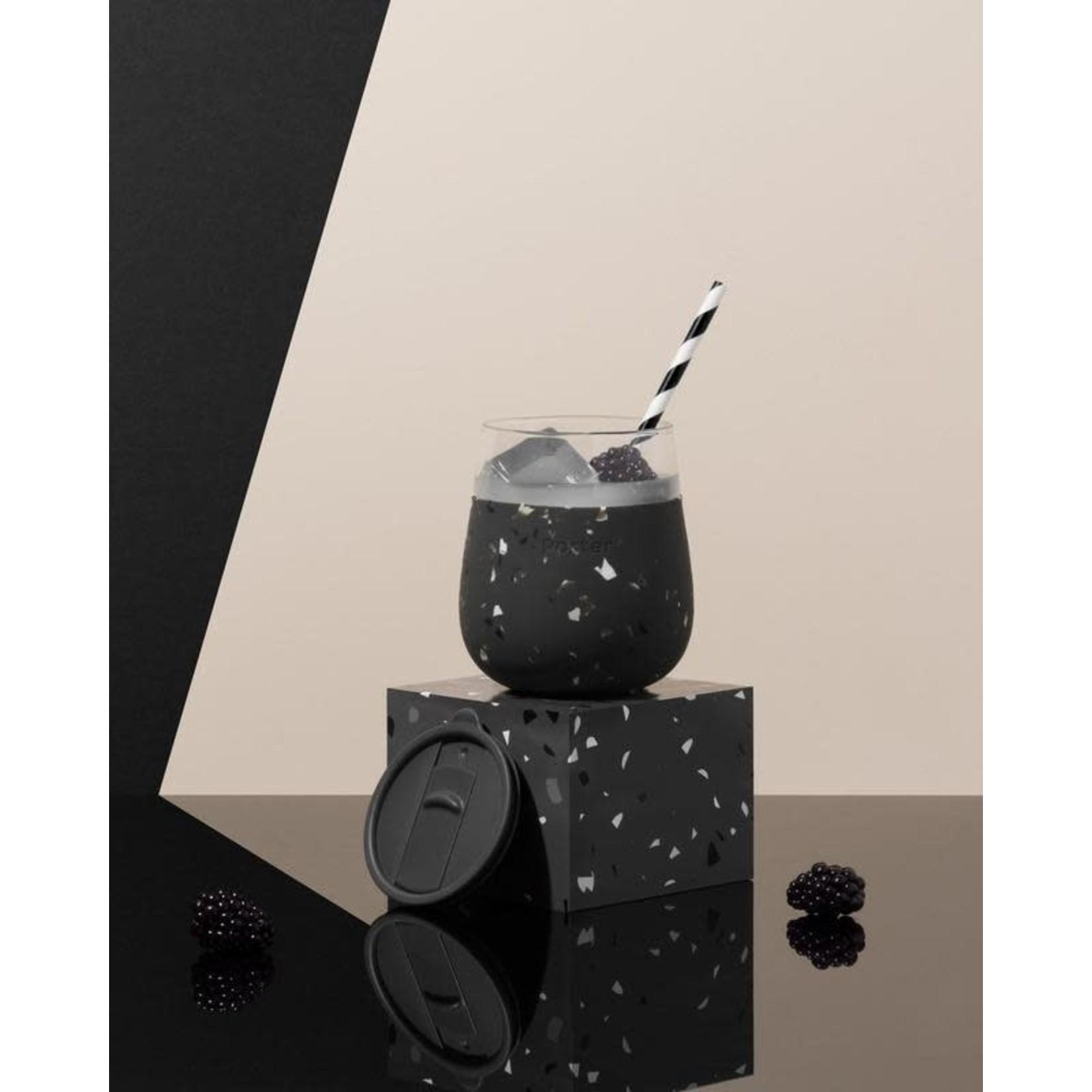 Porter Verre PORTER - terrazzo/noir
