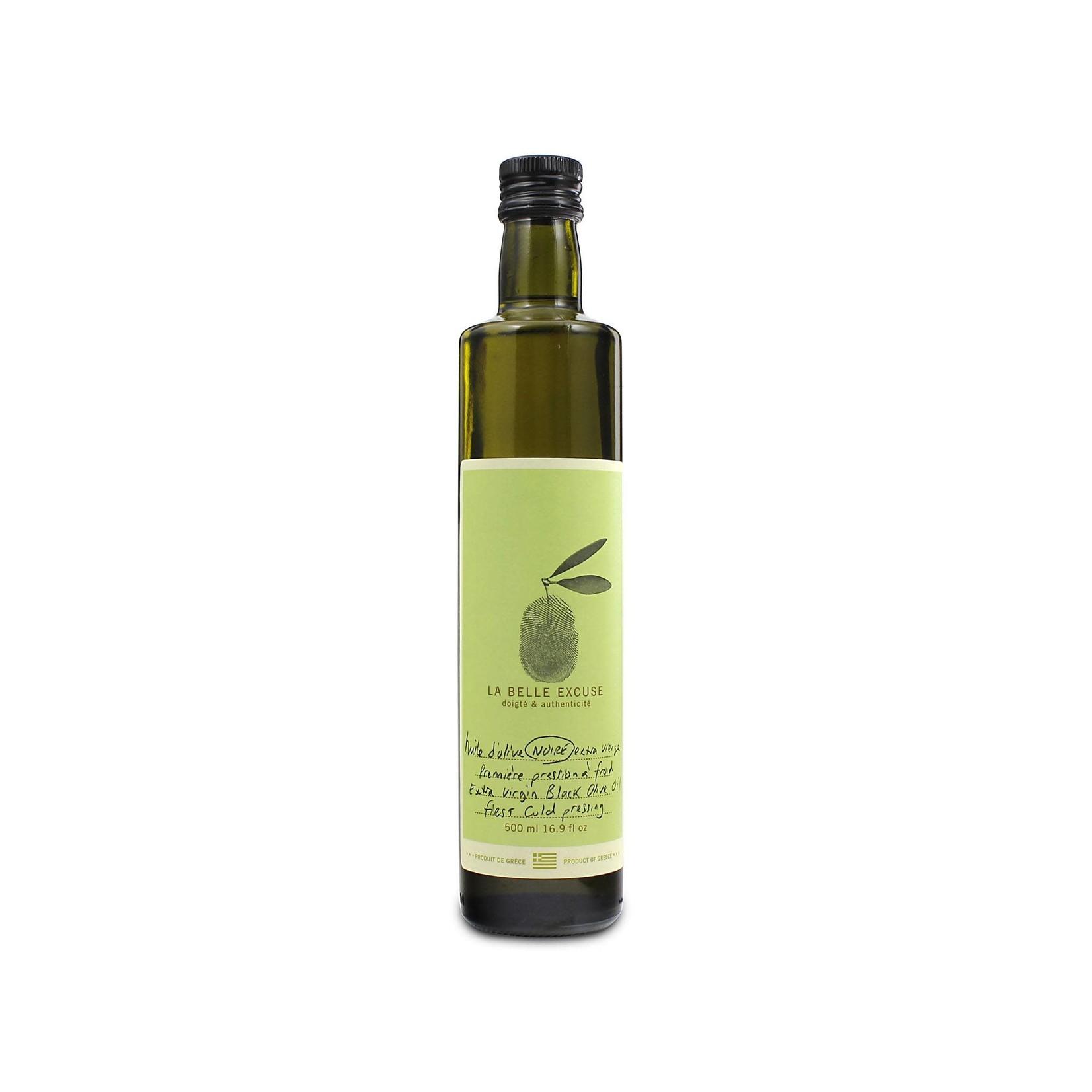 La belle excuse Huile olive extra vierge noire 500ml