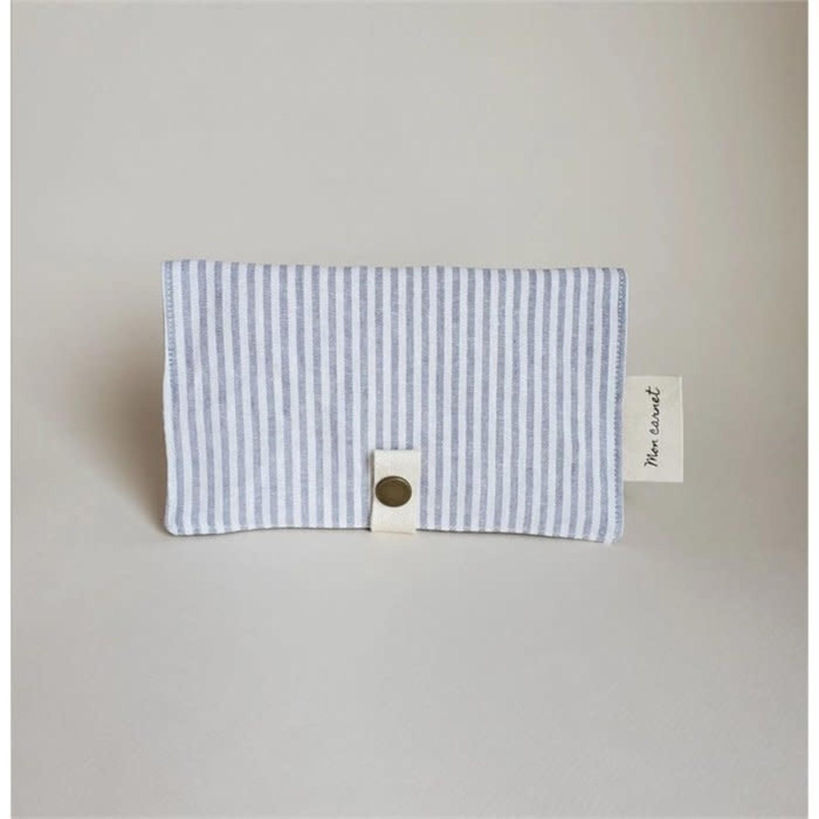 Sauge & co Sauge & co - Mon carnet / Linen stripes grey